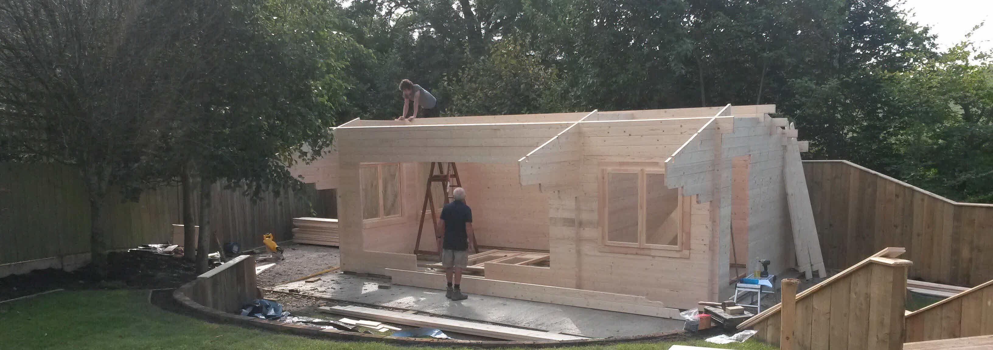 Timber Cabin Installation Gisburn 4m x 7m _4
