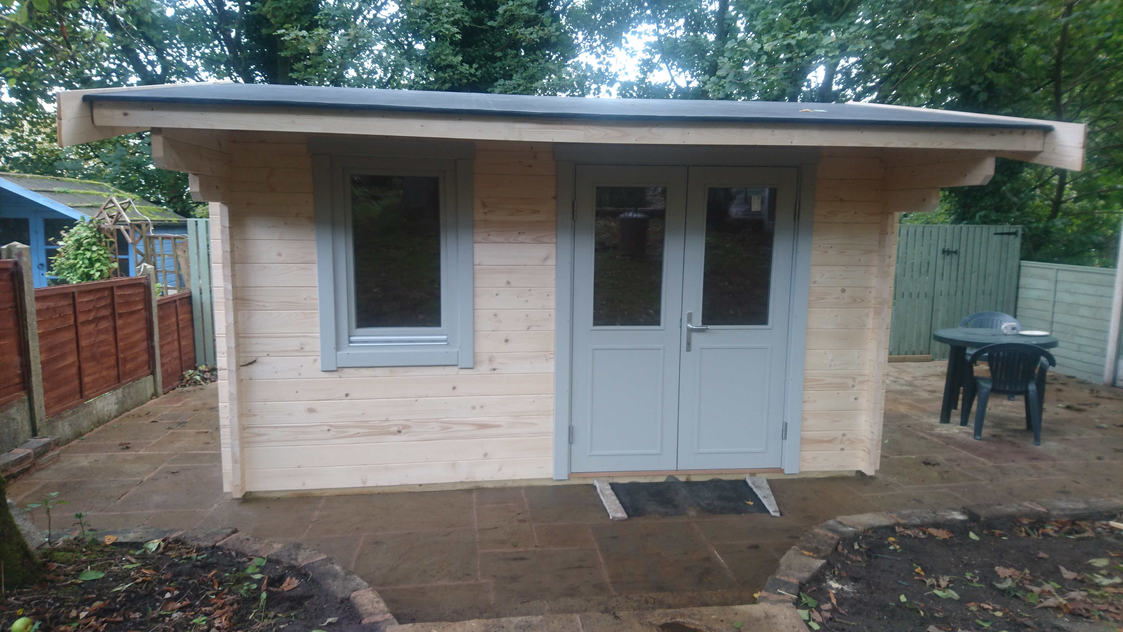 Timber Log Cabin Installation Blackburn 4m x 3m