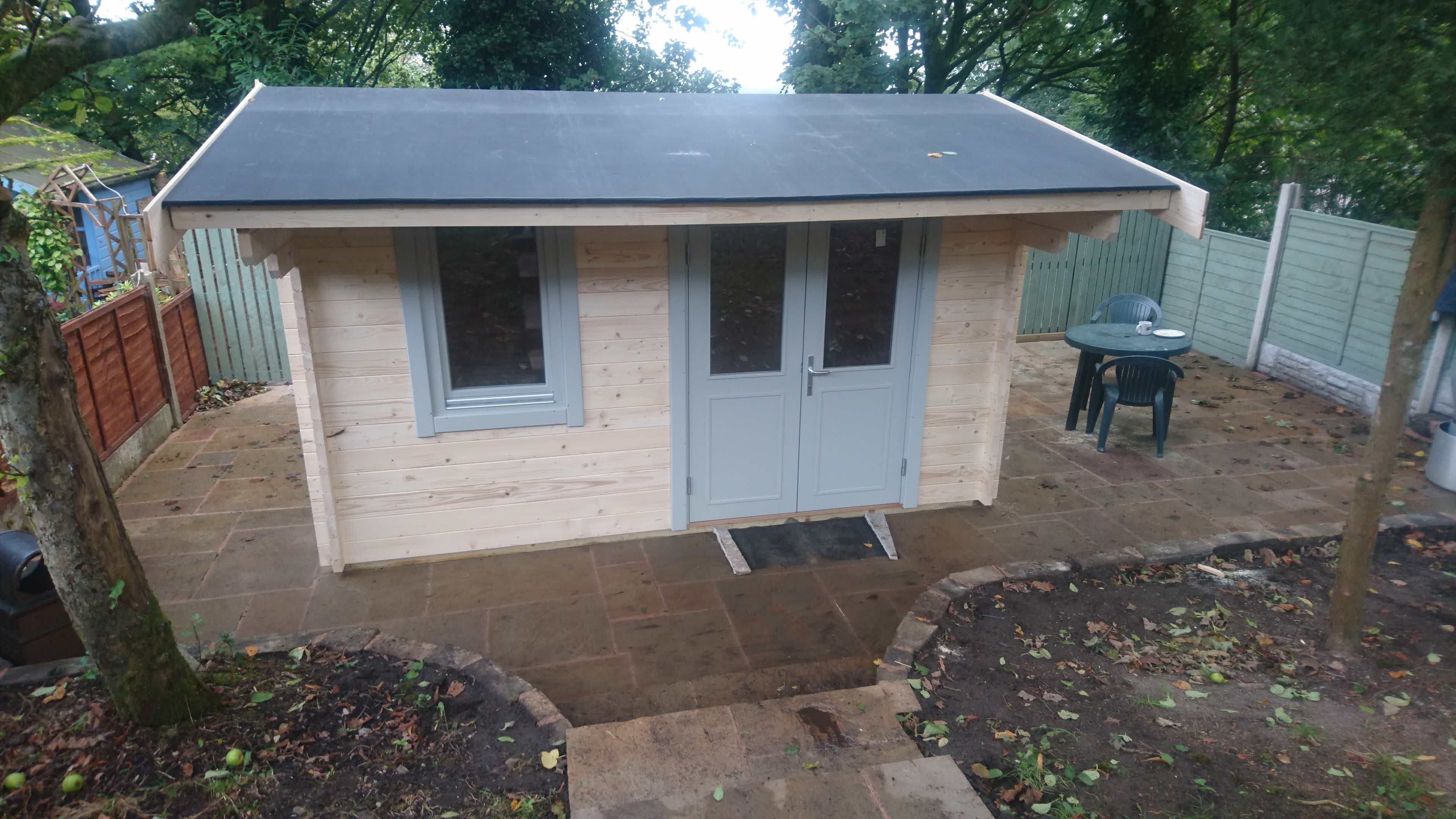 Timber Log Cabin Installation Blackburn_ 3
