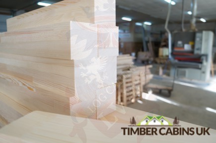 Timber Cabins UK Log Cabins Deluxe Doors and Windows 019